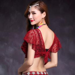6ba7f8ba3c9111 Red Belly Dance Top Australia - Sexy Lace Bellydance Top Women Bollywood Belly  Dance Practice Clothes