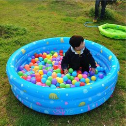 Wholesale Inflatable Baby Swimming Pool Piscina Portable Outdoor Kids Print Sea Ball Pool Basin Bathtub Kids Baby Swimming For Children bathing C694