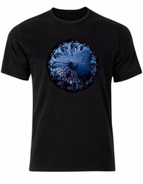 Novelty Glasses Black UK - Church Stained Glass Shattered Panoramic View Gothic Mens t-Shirt Tee Shirt AK05