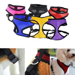 Nylon Dog Collar Wholesale UK - Adjustable Comfort Soft Breathable Dog Pet Vest Rope Chest Strap Leash Collar