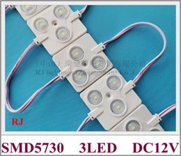 pcb module Canada - ABS injection LED light module IP65 waterproof DC12V SMD 5730 aluminum PCB square 3 led 1.4W SMD5730 50mm*42mm CE ROHS high bright