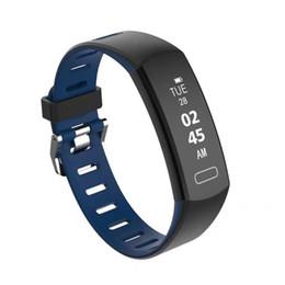 Bracelet de fréquence cardiaque surveillance du sommeil surveillance cadeau de mode Bluetooth étape compteur de santé montre appel réveil bracelet