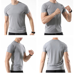polyester athletic t shirts Australia - WOSAWE Men's Gym T-Shirts Suit Breathable Slim Anti-Sweat Jersey Workout Running Training Jogging Athletics Shirt Top Clothing