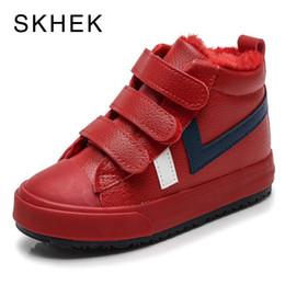 $enCountryForm.capitalKeyWord UK - Skhek 2018 New Kids Girls Boots Leather Princess Martin Boots Fashion Elegant Casual Child Shoe For Boys Baby Boots Shoes Y19051403