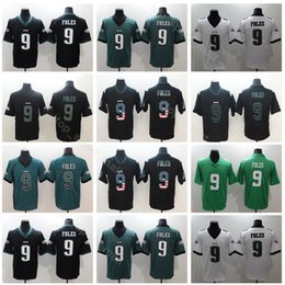 104d436f84d Philadelphia Eagles Football 9 Nick Foles Jersey Men Vapor Untouchable  Salute to Service USA Flag Shadow Black Green White Uniform