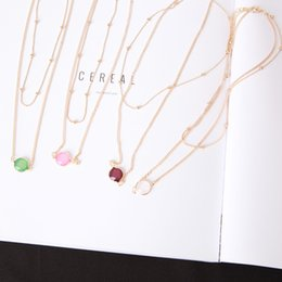 $enCountryForm.capitalKeyWord Australia - Cross-border Sources of European and American Jewelry Simple Jewelry Hanging Ball Double Clavicle Short Lady Necklace
