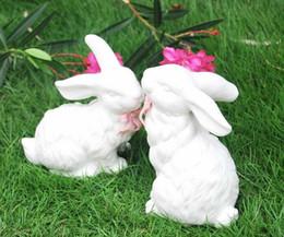 $enCountryForm.capitalKeyWord Australia - Garden Decoration Simulation rabbit Fairy Garden Miniature Sculpture Crafts Outdoor Animal Decoration Wedding prop Gift