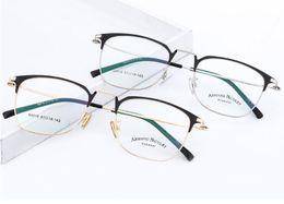 Glasses eyebrows online shopping - New Myopia Frame Metal Glasses Brand Men and Women Eyebrow Glass Frame Retro vintage dhl