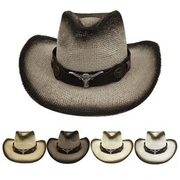 riding hats for men NZ - Unisex Retro Western Cowboy Riding Hat New Leather Belt Wide Cap for Men and Women Hats & Caps Hats, Scarves & Gloves Fashion Casual Wind Ro