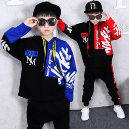 hip hop style kids Canada - hot Hip-hop High quality 2019 autumn winter fashion Hoodies+pants children set kid suit girl boy clothing set for 4-14 years