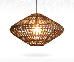 Chinese  Southeast Asia Vintage Country Chinese Style Bamboo Wicker Rattan Pendant Lamp Restaurant Teahouse Home Decor Lighting Fixture LLFA manufacturers