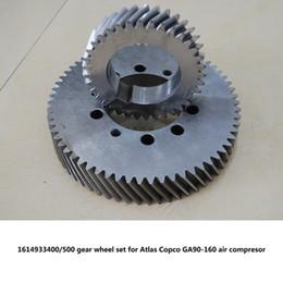 $enCountryForm.capitalKeyWord Australia - Good quality Genuine gear wheel set driven gear shaft 1614933400 500 for Atlas Copco GA90-160 screw air compressor parts