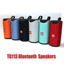 Опт TG113 Bluetooth Беспроводные колонки сабвуферы громкая связь профиль вызова стерео бас поддержка TF USB карта AUX линия в Hi-Fi 1200mah аккумулятор