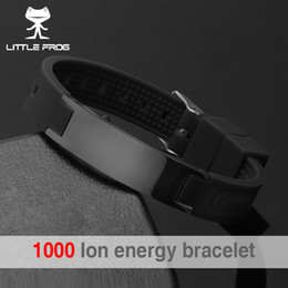 Discount power energy balance - LITTLE FROG 2018 Top Quality Silicone Energy Size Can Adjust Bracelet Metal Buckle Balance Wristband Power Bangle 20002
