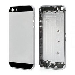 Iphone 5s Back Side Australia - 20PCS Metal Full Housing Back Cover Battery Cover with Side Buttons for iPhone 5 5s SE