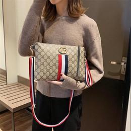 $enCountryForm.capitalKeyWord Australia - Classic Stripe Pattern Women Shoulder Bags INS Fashion Letter Lady Brand Cross Body Bags Outdoor Street Style Female Personality Handbags