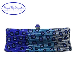 $enCountryForm.capitalKeyWord NZ - Royal Nightingales Luxury Blue Party Evening Bags And Clutches With Crystal Rhinestone For Womens Party Wedding Prom Dress Y190627