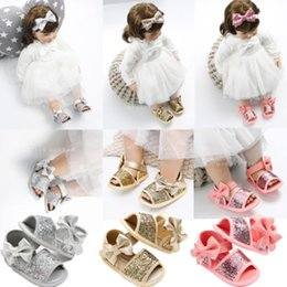 Wholesale Fashion Princess Baby Infant Kids Girl Soft Sole Crib Toddler Summer Sandals Shoes M