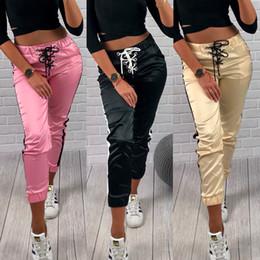 Wholesale pink leggings resale online - 2019 Womens Fitness Yoga Leggings Running Gym Sport High Waist Jogging Pants Trousers