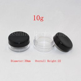 Oz Plastics Australia - 10g round empty plastic clear jar with black lid, 1 3 oz plastic containers for cosmetic packaging ,DIY sample cream bottles