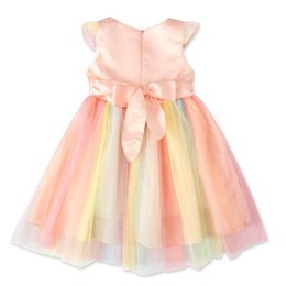 chinese wholesale cosplay UK - 2019 kids Unicorn dress girls lace sleeveless dress children clothes kids designer princess skirts baby Cosplay dresses C12