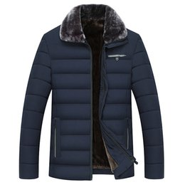$enCountryForm.capitalKeyWord Australia - 2019 Warm Thick Winter Jacket Men Casual Fur Collar Fleece Lining Cotton Padded Jacket Windproof Overcoat Male Long Parkas Coats
