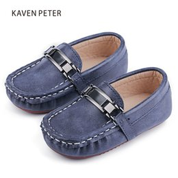 moccasin casual shoes baby Australia - 2017 Autumn Classic child flat shoes microfiber Leather kid Doug shoes boy Moccasin-gommino casual sneakers baby toddler