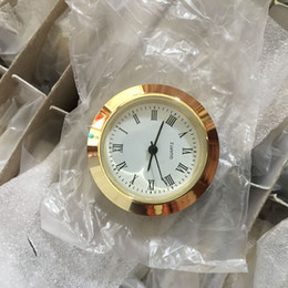 Metal Inserts Australia - metal 30mm insert clock with good japanese pc21s movement and battery watch insert