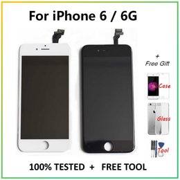 "Per Screen Display LCD Touch iPhone 6 6G Digitizer Assembly Grade rimontaggio + libero 3 regali per iPhone6 ​​4.7"" LCD screen"