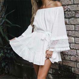 $enCountryForm.capitalKeyWord NZ - Cover-ups White Cotton Tunic Beach Dress Summer Tunic For Women Beachwear Swimsuit Cover Up Beach Woman Sarong palge
