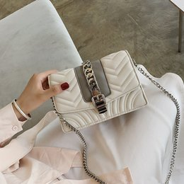 Square Chains Australia - Elegant2019 Small Lattice Diamond Square Mini- Chain Packet Woman Package Color All-match Love Single Shoulder Satchel