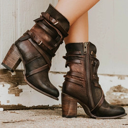 $enCountryForm.capitalKeyWord Australia - Lasperal Nice Women Ankle Boots Block High Heels Boots Children's Shoes Retro Leather Winter Shoes Plus Size Booties Cowboy Boots