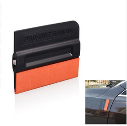 Roof Magnet Australia - Vinyl Carbon Fiber Film Car Wrap Magnet Squeegee with Scratch-less Suede Felt Window Tint Magnetic Scraper Styling Tools