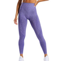 red blue purple yoga pants NZ - Gym Leggings Sport Women Fitness Push Up Yoga Pants High Waist Elastic Squat Proof Sportswear Athletic Workout Energy Tights