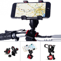 Water Resistant Gps Australia - 2019 New Universal Smart Three Section Type Clamping Design Mobile Phone Ppad GPS MP4 Bicycle Mount Support Case #0123 #312006
