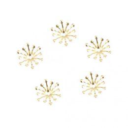 $enCountryForm.capitalKeyWord UK - 100 Pcs 13mm Bead Cap Ends DIY Accessories Jewellery Findings Craft Gold