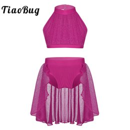 $enCountryForm.capitalKeyWord Australia - TiaoBug Girls Backless Ballet Tutu Dance Wear Kids Crop Top Shorts Skirt Set Ballerina Stage Contemporary Lyrical Dance Costumes