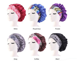 $enCountryForm.capitalKeyWord Australia - New Silk Night Cap Hat Double side wear Women ethnic Style Head Cover Sleep Cap Satin Bonnet for Beautiful Hair Best Quality