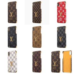 $enCountryForm.capitalKeyWord Australia - Luxury Bronzing Classic Retro Design Phone Case for IPhone XS Max XR X 8 7 6s Plus Shell Smartphone Case English Brand Back Phone Cover