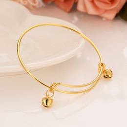 brass christmas bells NZ - dubai India gold bell bracelet women's bracelet jewelry ring jewelry Arab bracelet charm Middle East Muslim gifts