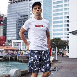8bcd007baa Men' Summer board shorts Bathing suit swimsuit quick dry surfing joggers  hawaiian briefs printed beach shorts plavky mesh