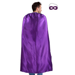 $enCountryForm.capitalKeyWord Australia - 140*90 cm Adult Superhero Costume Purple Cape And Mask Decoration Halloween Cos-Play Carnival Party Costumes Outfit