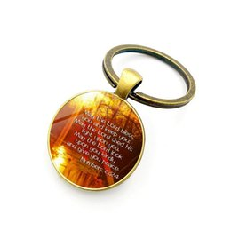 $enCountryForm.capitalKeyWord Australia - Foreign trade new creative car ornaments Christian Jesus time gemstone glass alloy pendant keychain Exquisite pendant small gifts wholesale