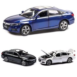 die cast models Canada - 1:32 Honda Accord Model Die-casting Model Sound and Light Car Children's Toy Collectibles Free Shipping