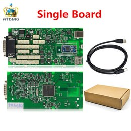 Cdp Pro For Cars NZ - 2018 NEW TCS cdp Single Green PCB board CDP PRO 2014.2 Software with Keygen for Car and Trucks Diagnostic Tool