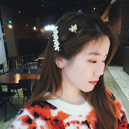 $enCountryForm.capitalKeyWord Australia - Women Hair Accessories High Quality Sweet Pearls Flower Hair Barrette Vintage Hair Clip For Girls