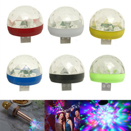 led garden ball Australia - USB Mini Disco Lights RGB LED Magic Ball Stage Effect Lamp For Party Club DJ Light Mobile Phone PC Power Bank
