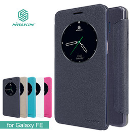 case note nillkin NZ - for Samsung Galaxy Note FE Fan Edition Case NILLKIN Sparkle Flip Leather with Smart View Window Back Cover Note 7 Phone Case