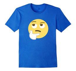 $enCountryForm.capitalKeyWord Australia - Thinking Face Emoji T-Shirt Think Pose Hand Fist Chin Design T Shirt 2019 Men O Neck Bodybuilding Tee Shirt