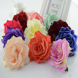 Artificial Red White Rose Head Australia - 100pcs Silk Roses Head Christmas Decorations For Home Accessories For New Year Wedding Bride Bouquet Diy Gift Artificial Flowers Y19061103